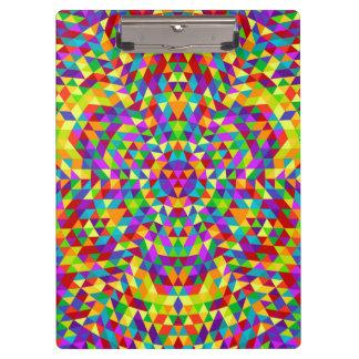 Carpeta De Pinza Mandala feliz 2 del triángulo