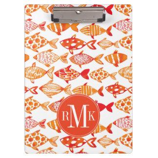 Carpeta De Pinza Modelo anaranjado brillante de los pescados de la