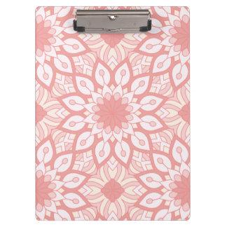 Carpeta De Pinza Modelo geométrico de la mandala floral atractiva