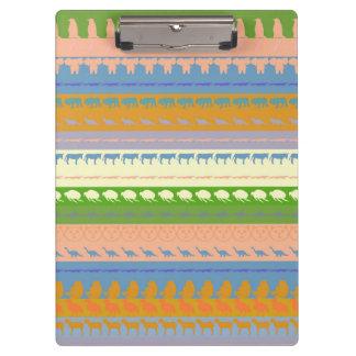 Carpeta De Pinza Modelo moderno #15 de las rayas de los animales