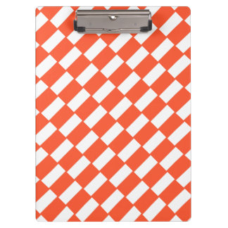 Carpeta De Pinza Modelo retro de los rectángulos anaranjados y