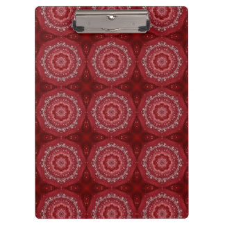 Carpeta De Pinza Modelo rojo y blanco de la mandala