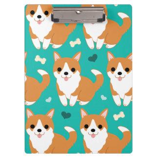 Carpeta De Pinza Modelo simple del ejemplo del perro lindo del