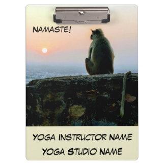 Carpeta De Pinza Mono de la yoga de la meditación de Namaste en la