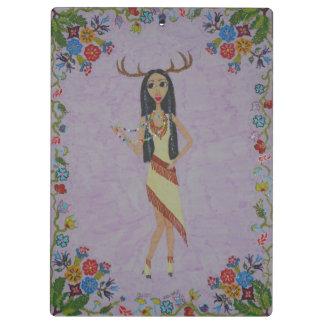 Carpeta De Pinza Mujer de los ciervos (serie de la moda del cuento