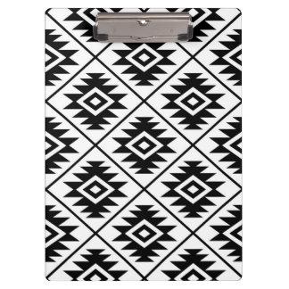 Carpeta De Pinza Negro estilizado del modelo del símbolo azteca en