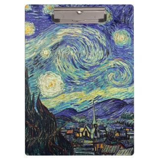 Carpeta De Pinza Noche estrellada de Van Gogh