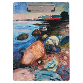 Carpeta De Pinza Orilla con la casa roja de Edvard Munch