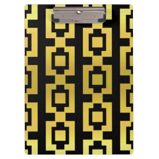 Carpeta De Pinza Oro y casilla negra