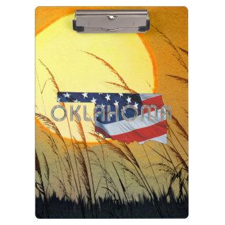 Carpeta De Pinza Patriota de Oklahoma de la CAMISETA