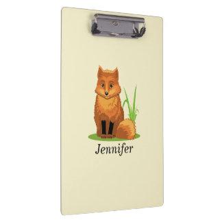 Carpeta De Pinza Pequeño Fox lindo de nuevo a escuela
