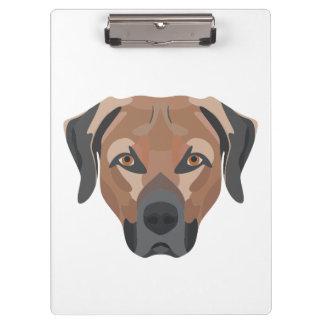 Carpeta De Pinza Perro Brown Labrador del ilustracion