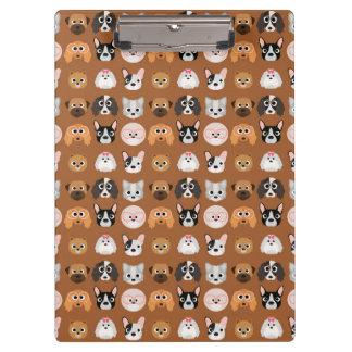 Carpeta De Pinza Perros lindos en Brown