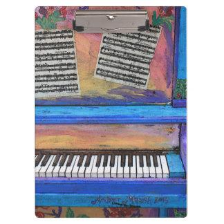 Carpeta De Pinza Piano colorido