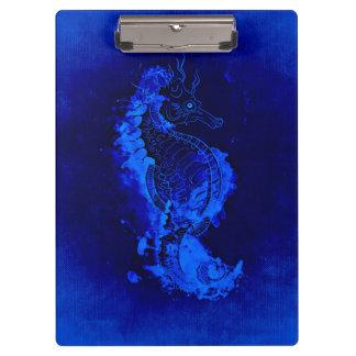 Carpeta De Pinza Pintura azul del Seahorse