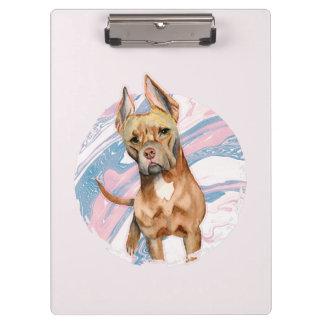 """Carpeta De Pinza """"Pintura de la acuarela del perro del pitbull de"""