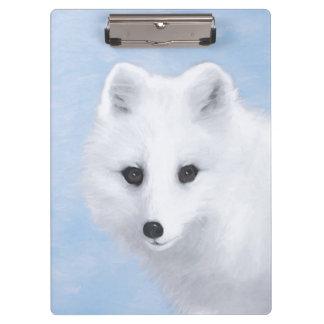 Carpeta De Pinza Pintura del Fox ártico - arte original de la fauna