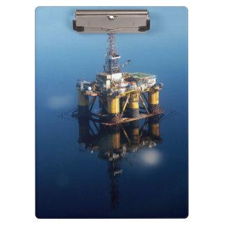 Carpeta De Pinza Plataforma de la plataforma petrolera de la foto