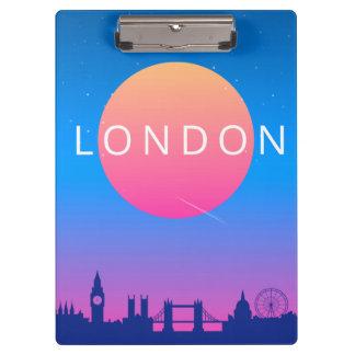 Carpeta De Pinza Poster del viaje de las señales de Londres