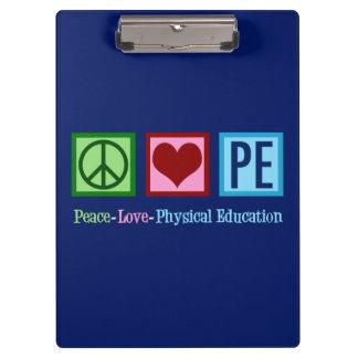 Carpeta De Pinza Profesor del PE del amor de la paz