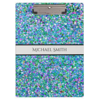 Carpeta De Pinza Purpurina moderno #2 de la arena del mosaico