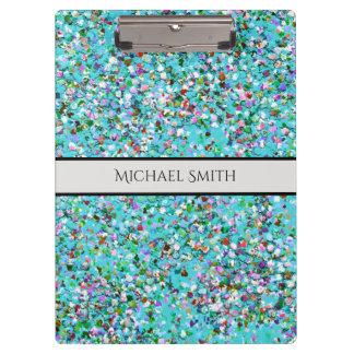 Carpeta De Pinza Purpurina moderno #7 de la arena del mosaico