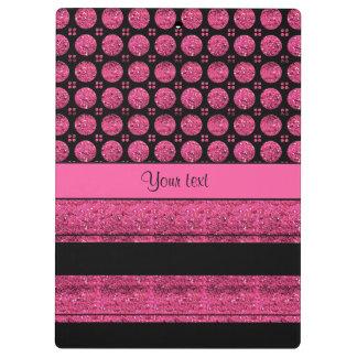 Carpeta De Pinza Rayas de las rosas fuertes y puntos del brillo
