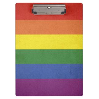 Carpeta De Pinza Rayas del arco iris