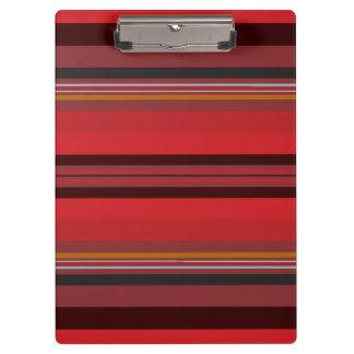Carpeta De Pinza Rayas - horizonte rojo