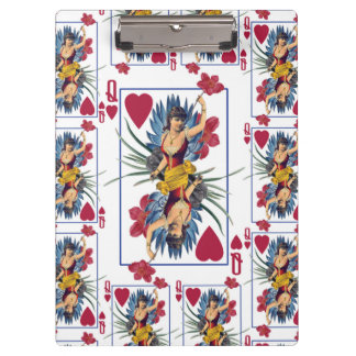 Carpeta De Pinza Reina de corazones y de flores