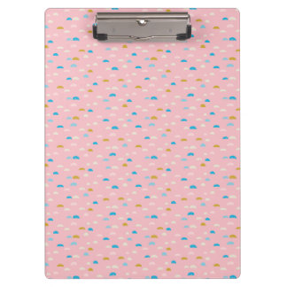 Carpeta De Pinza Rosa abstracto de la media luna modelado
