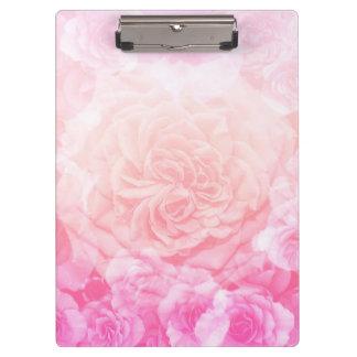 Carpeta De Pinza Rosa en colores pastel Ombre floral