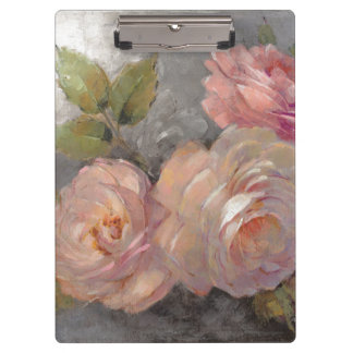 Carpeta De Pinza Rosas con gris