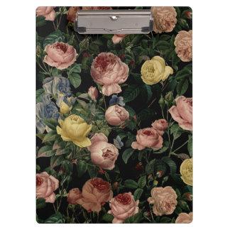 Carpeta De Pinza Rosas de la flor del vintage y sueños