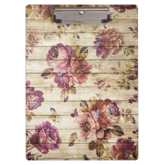 Carpeta De Pinza Rosas elegantes modernos del fondo de madera del