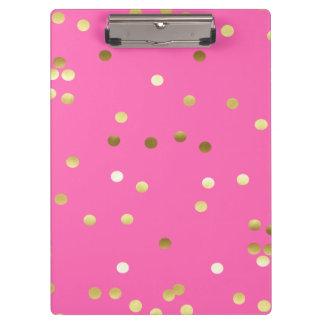 Carpeta De Pinza Rosas fuertes de moda del confeti de la hoja de