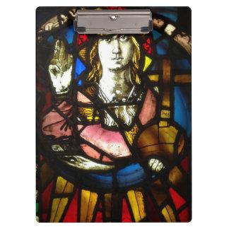 Carpeta De Pinza San Jorge el asesino del dragón en vitral