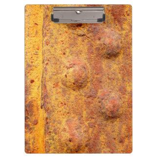 Carpeta De Pinza Tablero clavado aherrumbrado del metal