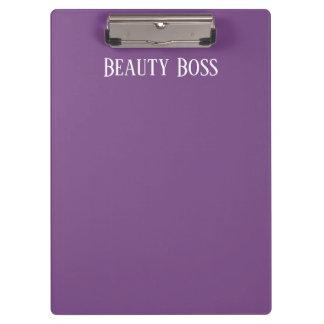 Carpeta De Pinza Tablero de Boss de la belleza