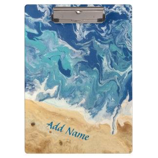 Carpeta De Pinza Tablero de clip abstracto de la playa