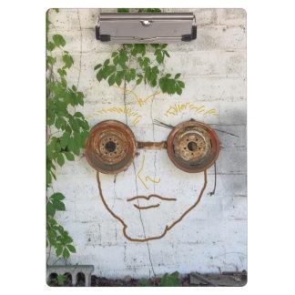 Carpeta De Pinza Tablero de clip de las gafas del individuo loco