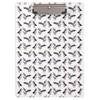Carpeta De Pinza Tablero de clip del frenesí del frailecillo