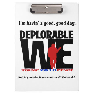 Carpeta De Pinza Tablero de clip deplorable