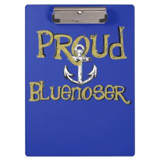 Carpeta De Pinza Tablero de clip orgulloso del ancla de Bluenoser