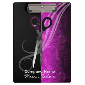 Carpeta De Pinza Tablero de clip púrpura de moda del salón de pelo