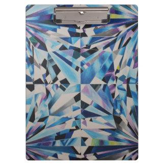 Carpeta De Pinza Tablero de cristal del diamante