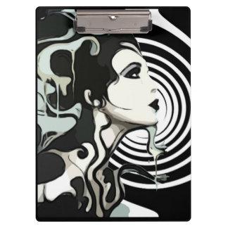 Carpeta De Pinza Tablero de fusión espiral de la mujer