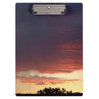 Carpeta De Pinza Tablero de la puesta del sol