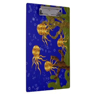 Carpeta De Pinza Tablero de oro de los pulpos