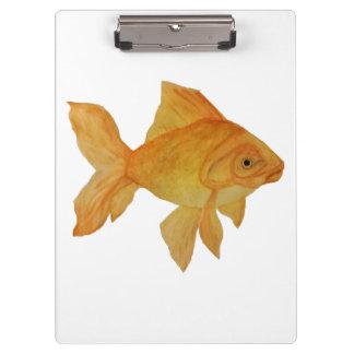 Carpeta De Pinza Tablero del Goldfish de la acuarela